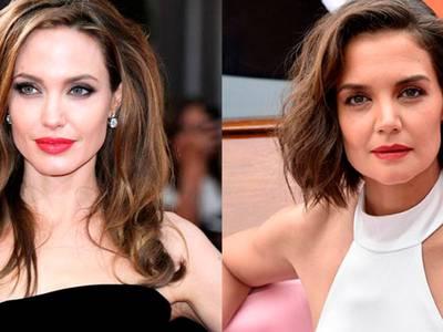 Angelina Jolie y Katie Holmes prueban que el tono nude rejuvenece a los 40