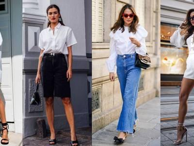 Formas de combinar tu camisa blanca este otoño para verte cool y elegante con poco