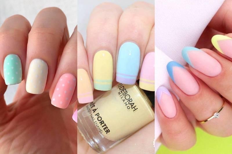 diseños de uñas pasteles primavera